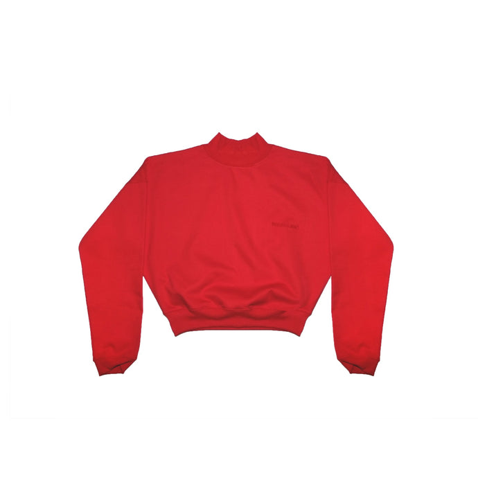 LOUNGE CROP POLO RED