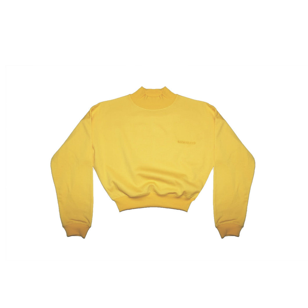 LOUNGE CROP POLO YELLOW