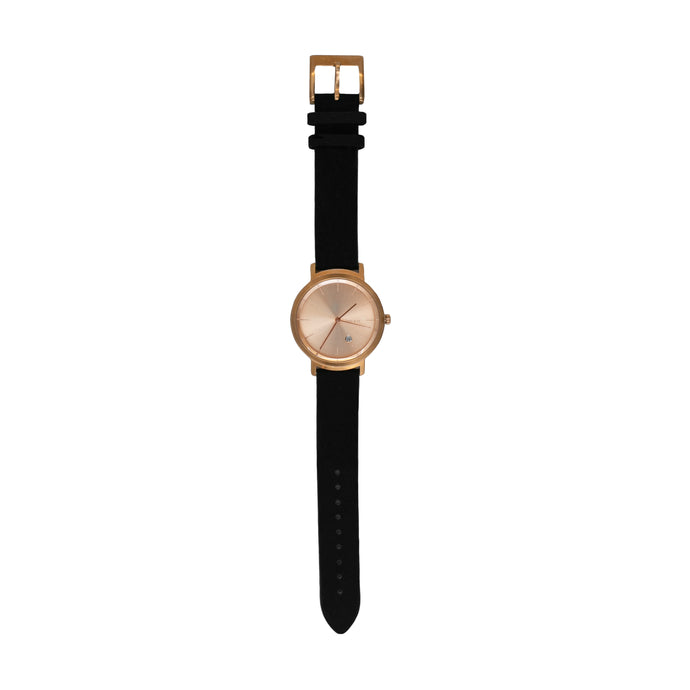 BLACK / ROSE UNISEX WATCH