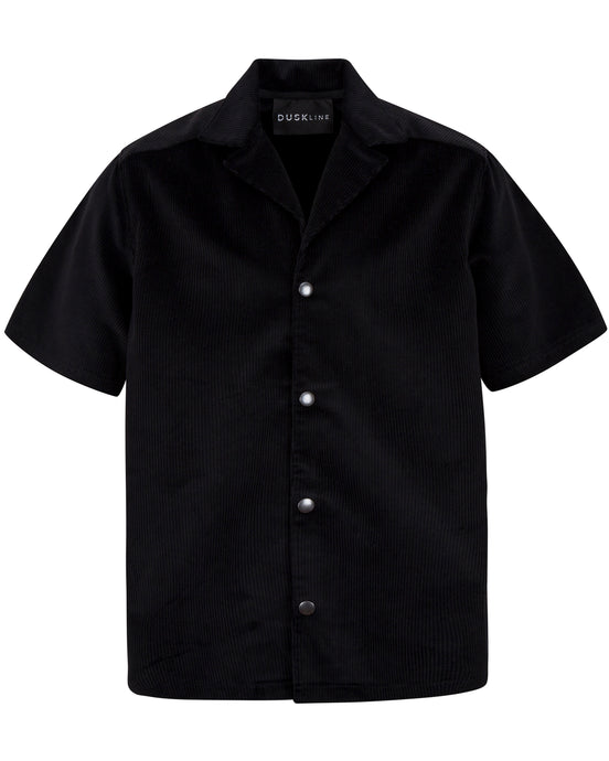 CORDUROY BOX SHIRT BLACK