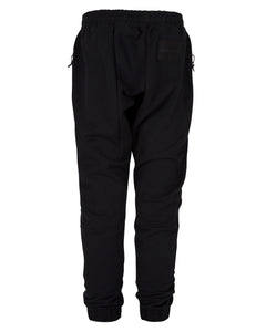 FLEECE PANEL JOGGERS BLACK
