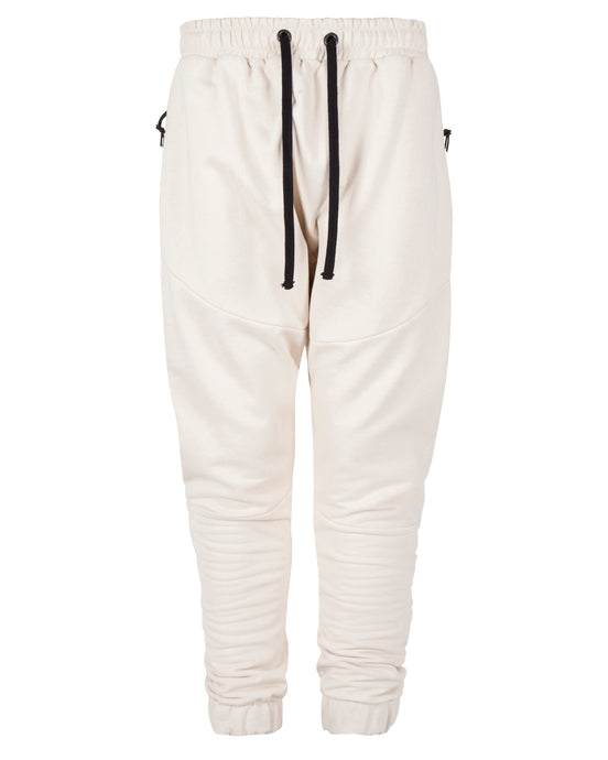 FLEECE PANEL JOGGERS CREAM