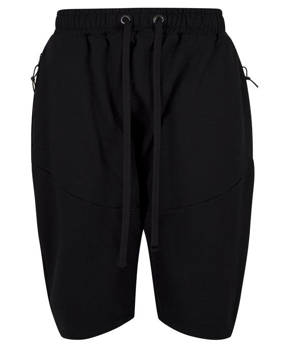 FLEECE PANEL SHORT BLACK