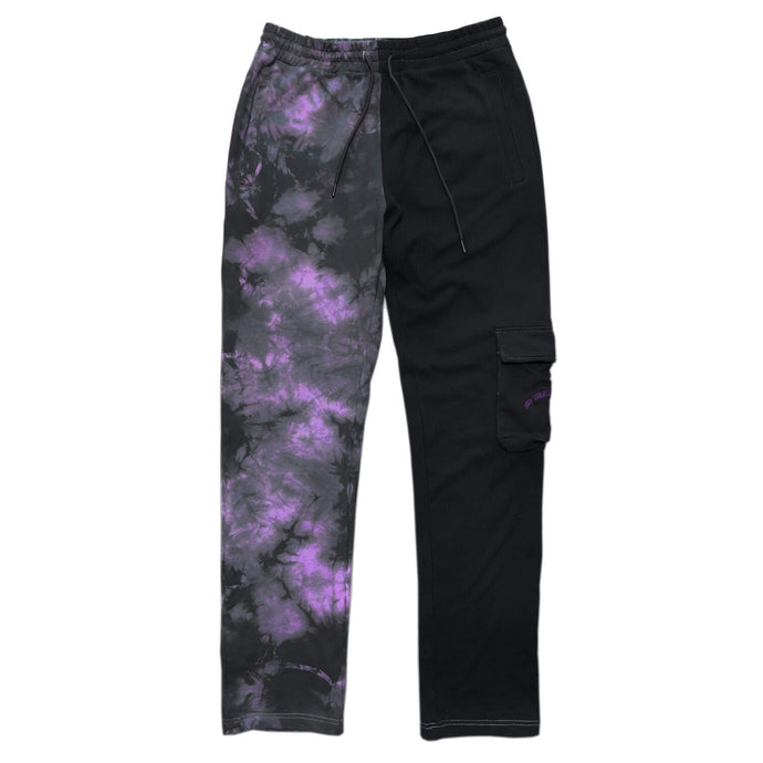 PURPLE SPLIT TIE DYE JOGGER