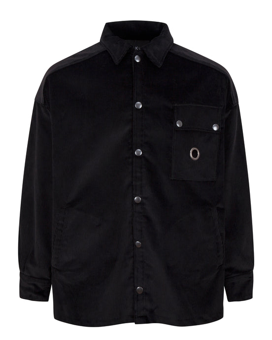CORDUROY WORK SHIRT BLACK