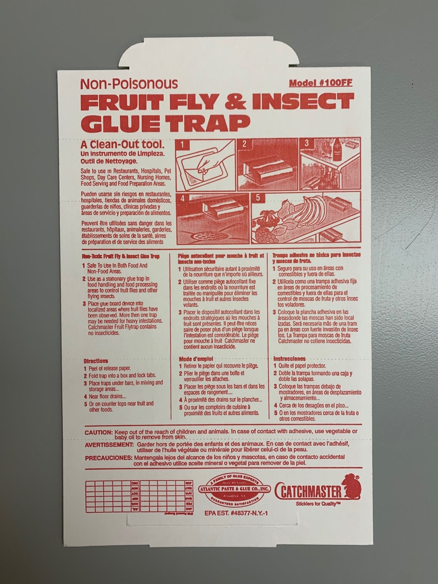 Catchmaster Fruit Fly & Insect Glue Trap