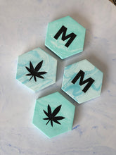 Load image into Gallery viewer, Personalized Monogrammed Hexagon Coasters