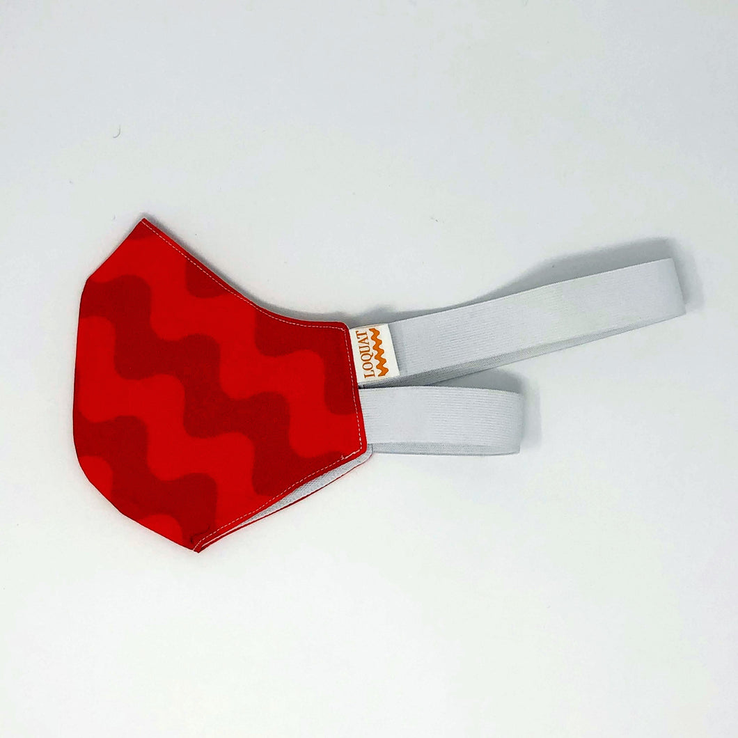 Bright Red Wave Mask