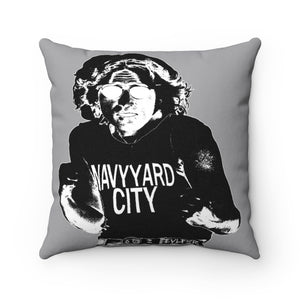 "EVLFKR-NAVY YARD CITY pillow 14"" x 14"""