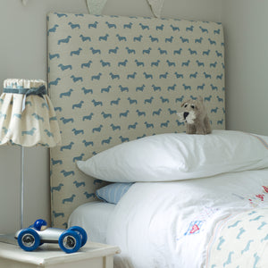 Blue Dachshund Fabric