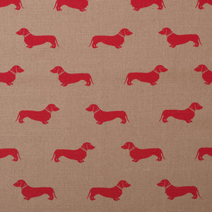 Red Dachshund Fabric