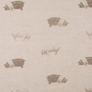 Saddleback Pig Fabric