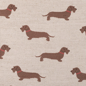 Wire Haired Dachshund Fabric