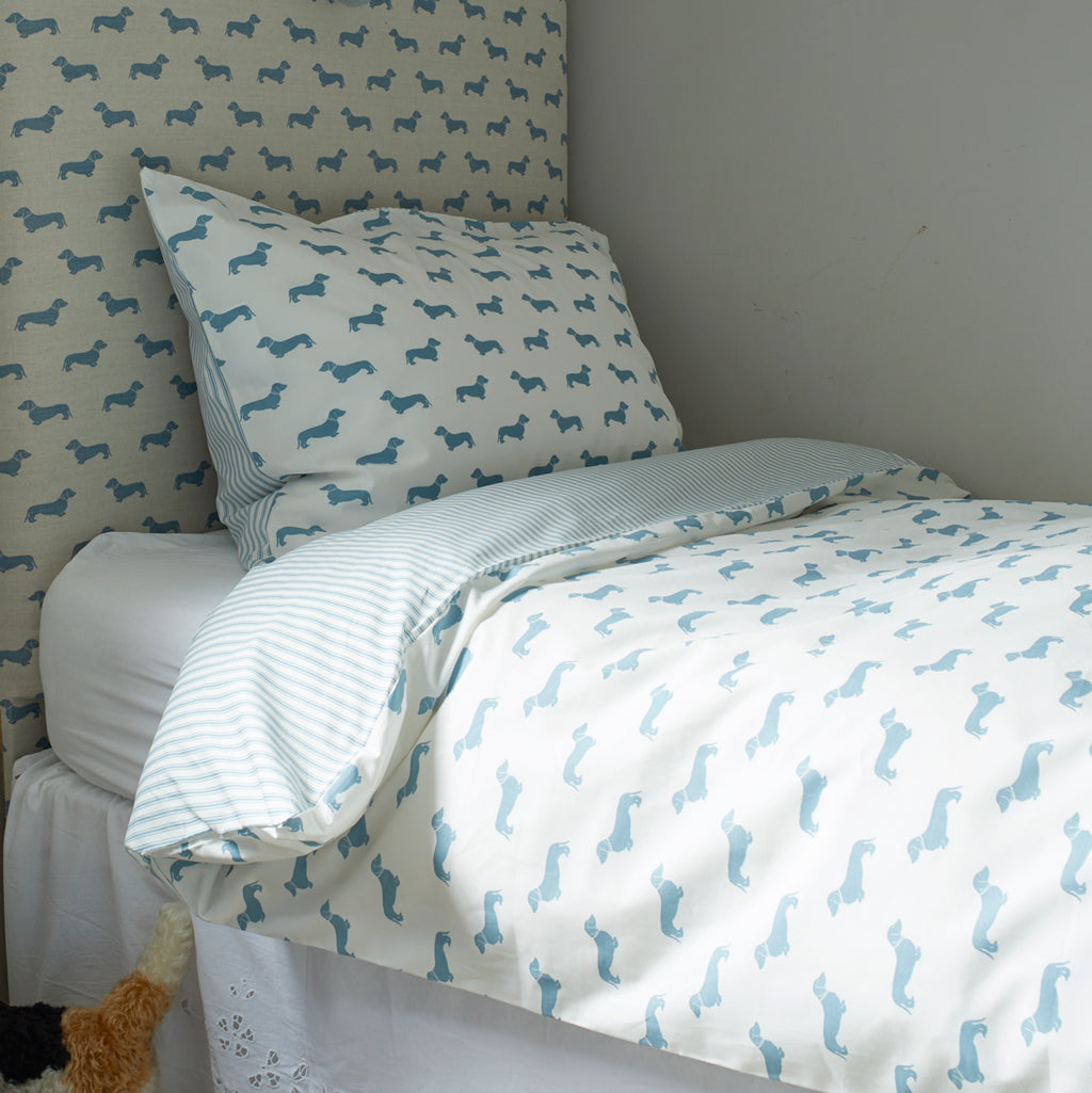 Blue Dachshund Bed Linen