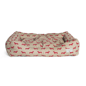 Dog Bed - Red Dachshund