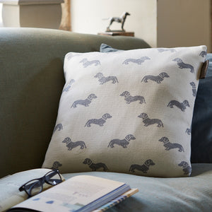 Grey Dachshund Cushion