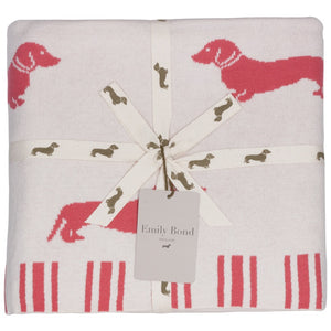 Pink Dachshund Throw