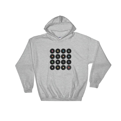 """We love vinyl multicolor"" Hooded Sweatshirt."