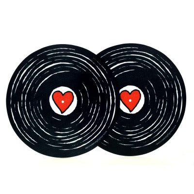 "Slipmats ""We love vinyl"""