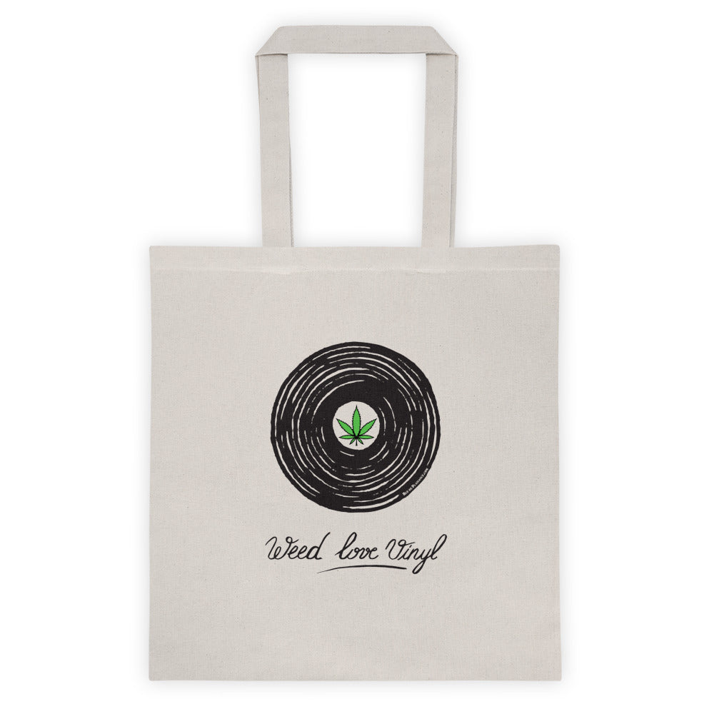 "Tote Bag ""Weed love vinyl "" by Virassamy."