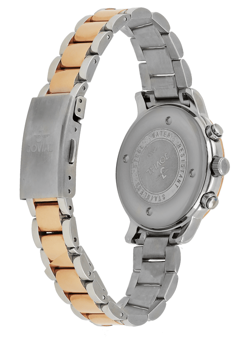 Automatic JOVIAL Watch 1086LAMC01 Ladies Rose Gold (White)36mm Metal