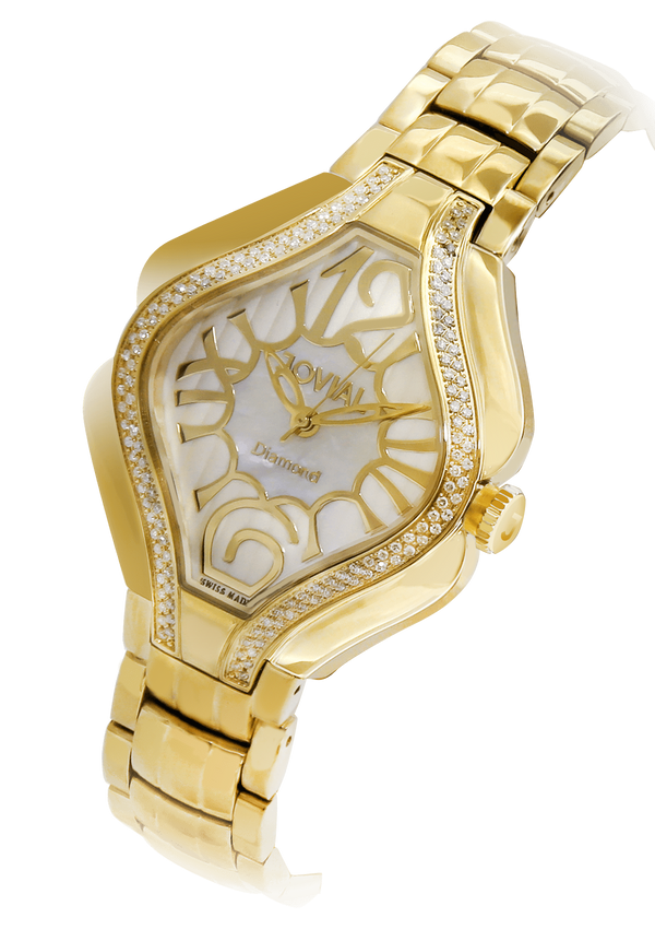 Classic JOVIAL watch 4853LGMQ05D Ladies Gold (MOP) 38mm Bracelet