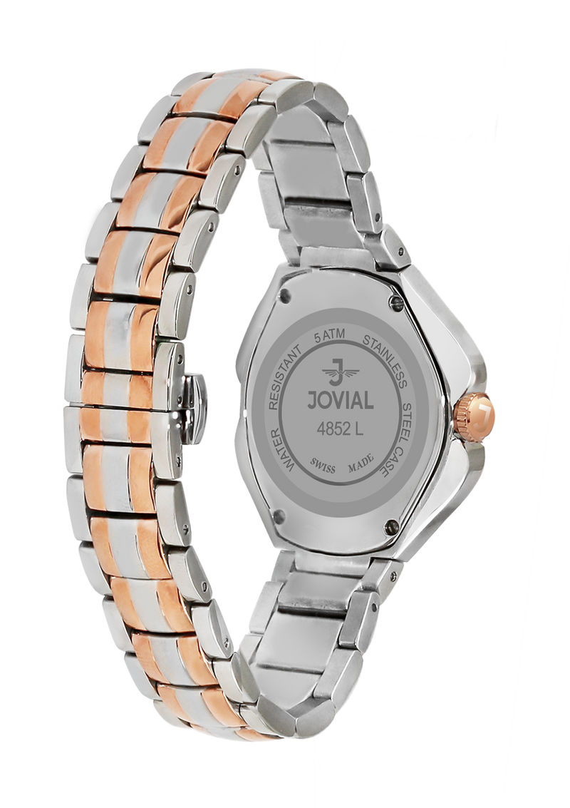 Classic JOVIAL watch 4852LAMQ05 Ladies Twotone Rose Gold (MOP) 38mm Bracelet