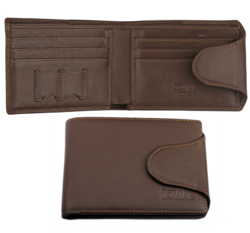 Wallet:JW29BR JOVIAL Genuine leather