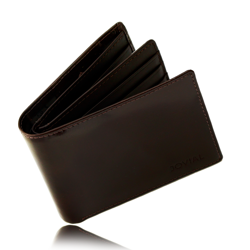 GIFT SET FOR HIM  Wallet: JW039BR GENUINE LEATHER WALLET