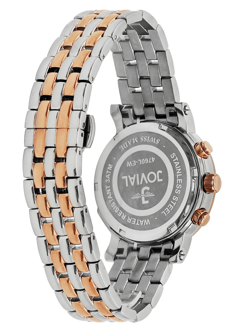 Chrono Classic JOVIAL watch 4760LAMC01 Ladies TwoTone Rose Gold (White) 38mm Bracelet