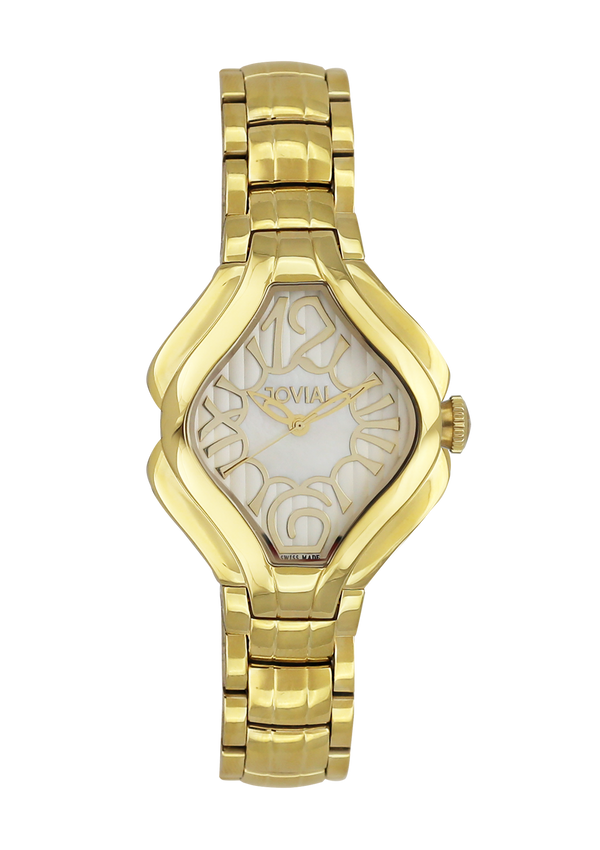 Classic JOVIAL watch 4852LGMQ05 Ladies Gold (MOP) 38mm Bracelet
