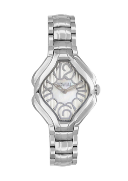 Classic JOVIAL watch 4852LSMQ05 Ladies Silver (MOP) 38mm Bracelet