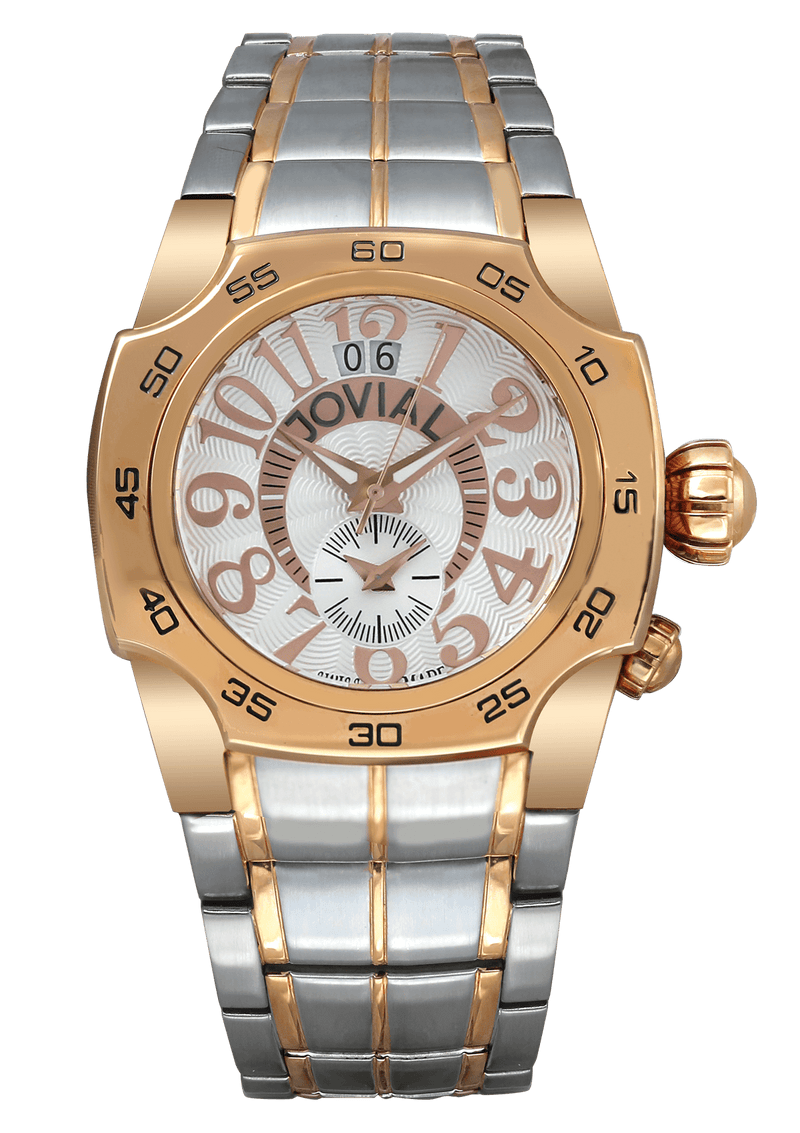 Classic JOVIAL Watch 7203GAMQ01 Gents Rose Gold(White) 42mm Bracelet
