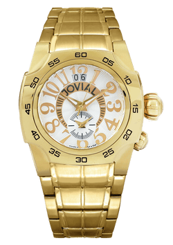 Classic for gents JOVIAL Watch 7204GGMQ01 Gents Gold (White) Bracelet