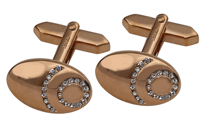 Cufflink: JC49061, Swiss made rose gold color