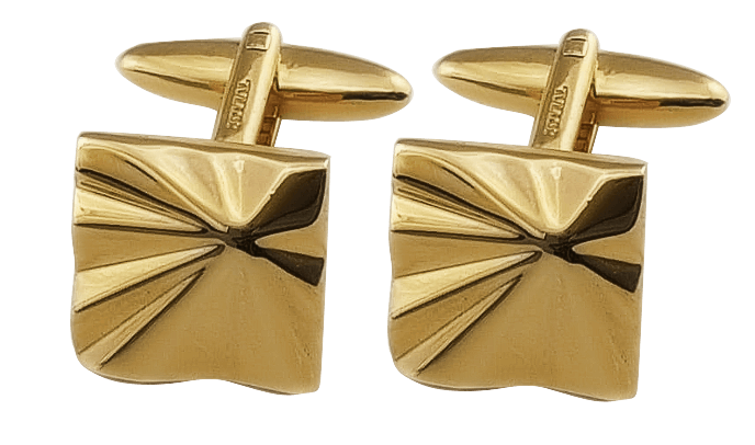 Cufflink:JC49061 GOLD PLATED, Swiss Made, Luxury For Gents