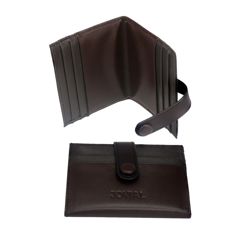 JOVIAL Wallet JO-004BR Gents Genuine Leather