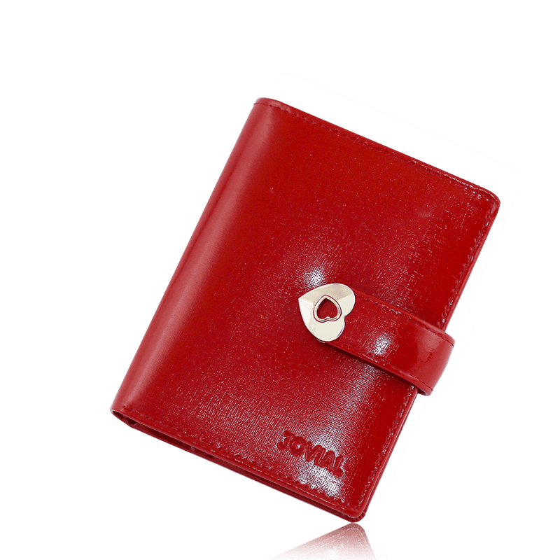 JOVIAL Wallet JW023Red Ladies Synthetic Leather