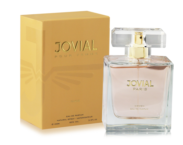 The perfume of Jovial Paris, features the luxury and power embodied by the French spirit that characterizes everything that comes from France