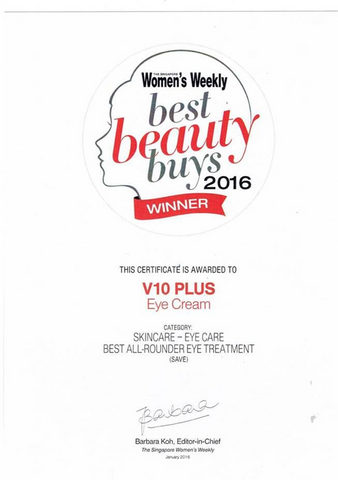 2.	The Skincare – Eye Care Best All – Rounder Eye Treatment - V 10 Plus Eye Cream Won Best Beauty Buys Award 2016
