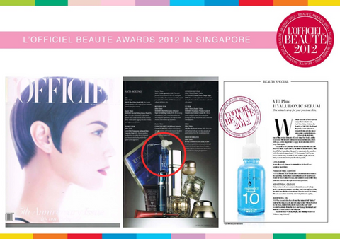 3.	The Best Ceramide Moisturizer for dry and sensitive skin. It fills in the damaged horny layer and enforces the barrier function of the skin. V 10 Pus Serum Received Award from Magazine Gloria Parhaat Kauneus Tuotteet 2012 in Finland (Europe)
