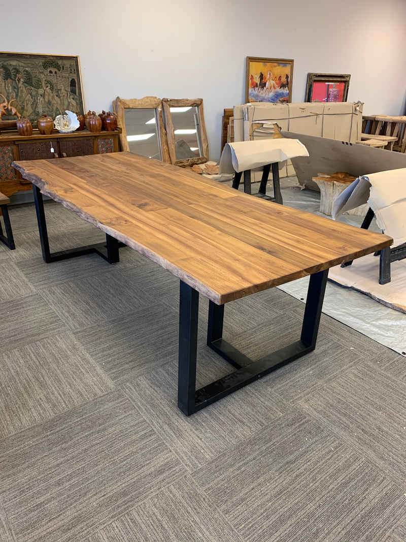 Live Edge W/ Iron Legs Table
