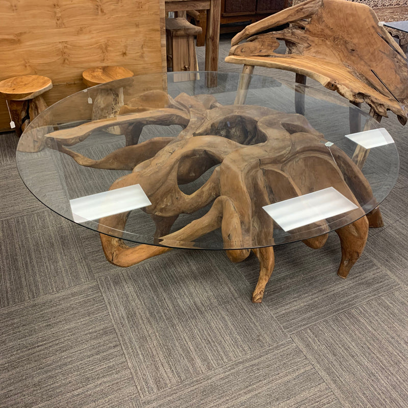 Round Root Coffee Table 67""