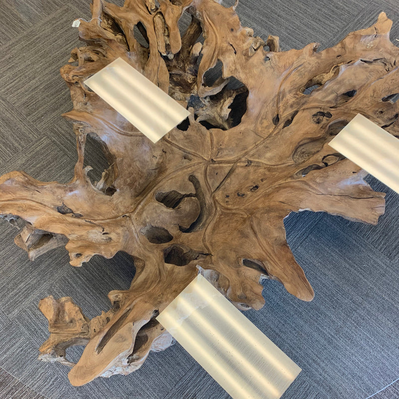 Round Root Coffee Table 79""