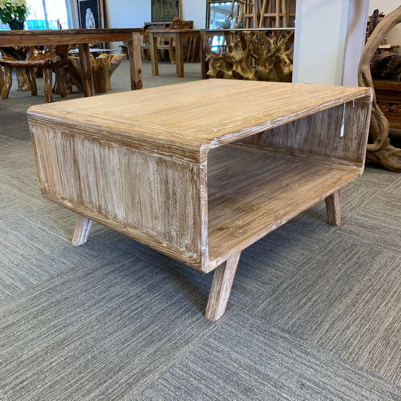 Teak Coffee Table White-Washed
