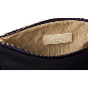 Soiree Wrist Clutch in Hair on Hide - Indigo