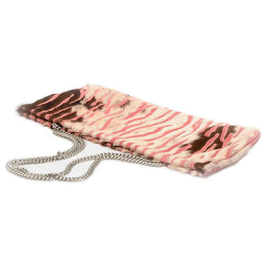 Statement Clutch in Pink/Brown Hair on Hide