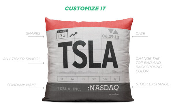 Ticker Symbol Custom Pillow Details
