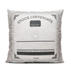 Stock Certificate - Throw Pillow