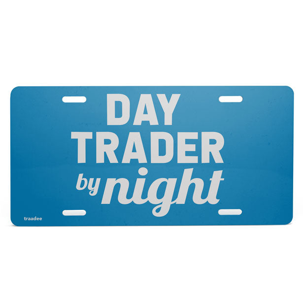 Day Trader By Night - License Plate